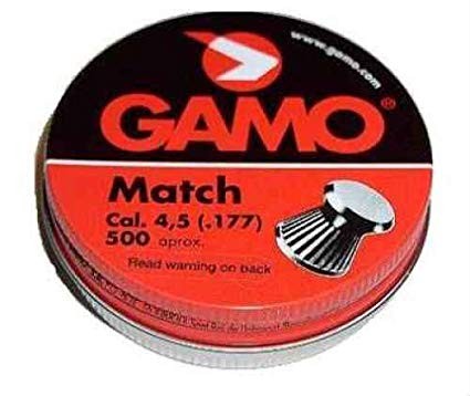 Gamo Pro Match competition .177cal 7.56gr competition flat nose Pellet tin of 500 $ 8.65