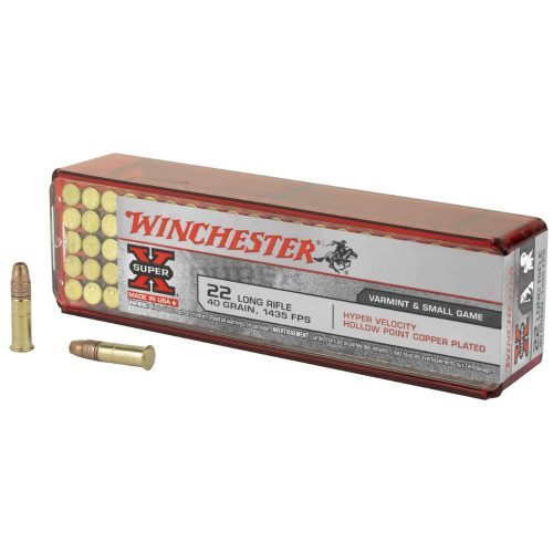 Winchester 22lr 40gr 1435fps copper plated hollow point hyper velocity ammo Box of 100 $ 15.00