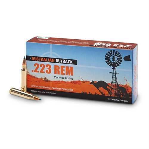 Australian Outback 223 rem 55gr Sierra blitzking ammo Box of 20 $ 26.55