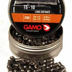 Gamo TS10 .177cal 10.49gr Long distance competition pointed round nose pellet Tin of 200 $ 8.00