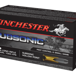 Winchester 22 Subsonic Hp pk of 50 $ 8.75