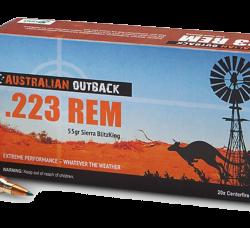 Australian outback 223rem 55gr sierra blitzking ammo Box of 20 $ 26.55
