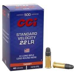 Fiocchi 22lr 40gr lead solid round nose 984fps standard velocity ammo Box of 50 $ 13.90