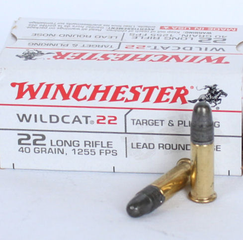 Winchester Wildcat 22lr 40gr Lead round solid high velocity 1255fps Box of 50 $ 5.70