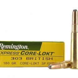 Remington 303 British 180gr Sp Pack of 20 $ 36.50