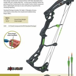 Horizone K9 Youth Compound Bow Set 8-26lbs Right Handed $ 146.00