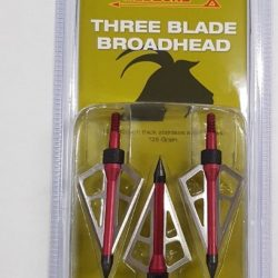 Red Zone broadheads 3 blade 125 grain Stainless steel blades carbon steel point 3 pack $ 35.20
