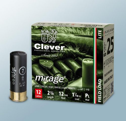 Clever 12ga 34g Shot Size 4 box of 25 rounds $ 18.50