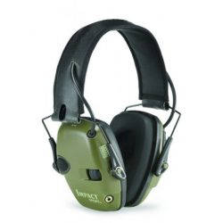 Howard Leight Electronic Ear muffs 24db Class 4 Olive Drab Uses 2 AAA