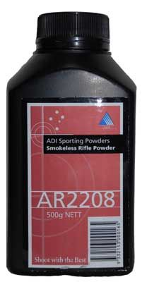 ADI AR2208 Reloading Powder 500 grams $ 57.00