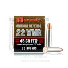 Hornady .22Mag 45gr FTX Critical defense Ammo Box of 50 $ 32.55