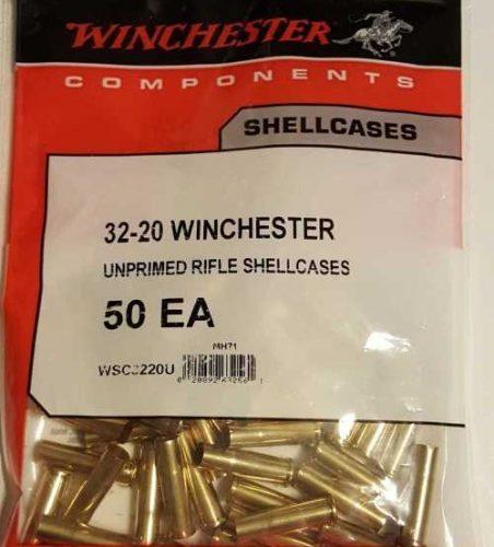 Winchester 32-20 Brass Bag of 50 $ 26.95