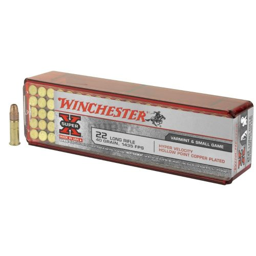 Winchester 22LR 40Gr 1435fps Copper plated hollow point hyper velocity ammo Box of 100 $ 18.50