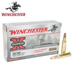 Winchester 308 185gr subsonic hollow point ammo Box of 20 $ 52.80
