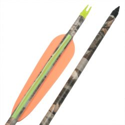 Vulcan Carbon Fiber camo arrow with Indexable Knox Screw in field tip heads