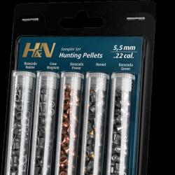 H&N .22 Hunting pellets with Baracuda Hunter, Crow Magnum, Baracuda Power, Hornet, Baracuda Green $ 23.75
