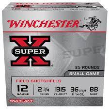 Winchester 12Ga Shot size BB 36 gram 1.25oz Bag of 25 $ 20.80