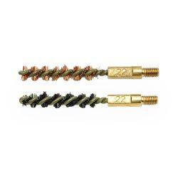 Otis 22 calibre bronze and nylon brush set with 8 32 male thread $ 8.15