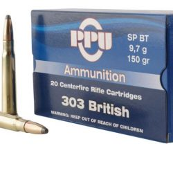 PPU 303Brt 150gr Boat Tail Soft point single flash brass ammo Box of 20 $ 36.70