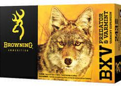 Browning 223rem 50gr BXV varmint expansion nickel plated cartridge Box of 20 rounds $ 27.75
