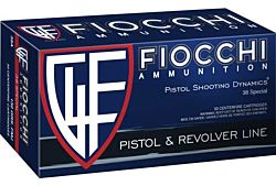 Fiocchi 38 Special 125gr jacketed hollow point brass case 1000fps Ammo box of 50 $ 61.45
