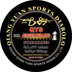 Qiang Yuan sports diabolo .177 calibre round nose skirted air pellet 9.56gr streamlined heavy tin of 500 $ 26.75